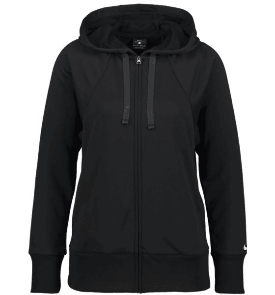 Image of Nike So Flc Hoodie Fz W Treeni BLACK/WHITE  - BLACK/WHITE - Size: Extra Small