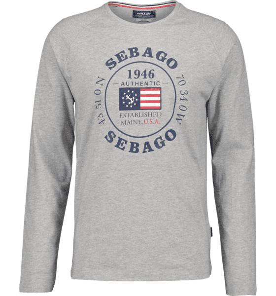 Image of Sebago So Pete Ls Tee M T-paidat LT GREY MELANGE  - LT GREY MELANGE - Size: 2X-Large
