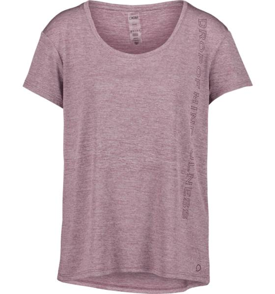 Image of Drop Of Mindfulness So Anna Loose Tee W Treeni ROSE MELANGE  - ROSE MELANGE - Size: Large