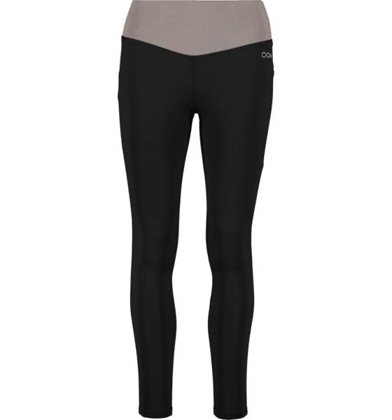 Image of Drop Of Mindfulness So Bow Tights W Treeni BLACK/TAUPE  - BLACK/TAUPE - Size: Large