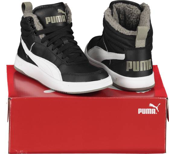 Image of Puma So Rebound Street V2 Fur Jr Varsikengät & saappaat BLACK/WHITE (Sizes: 6)