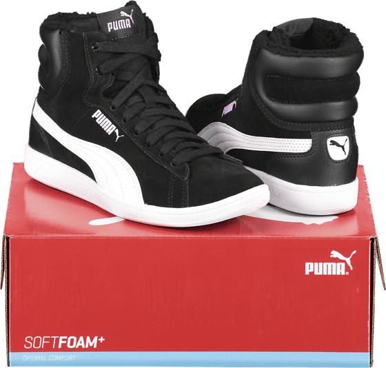 Image of Puma So Vikky Mid Fur Jr Varsikengät & saappaat BLACK/WHITE (Sizes: 4)