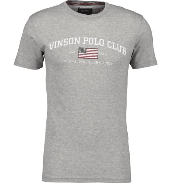 Image of Vinson Polo Club So Henley Tee M T-paidat GREY MELANGE  - GREY MELANGE - Size: Large
