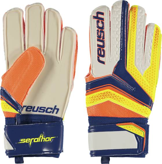 Reusch So Serathor Glv Jalkapallo DAZZLING BLUE/SAFE  - DAZZLING BLUE/SAFE - Size: 7