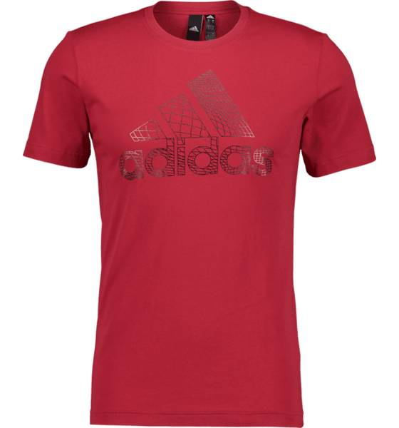 Image of Adidas So Bos Foil Tee M T-paidat MAROON RED - MAROON RED - Size: Extra Large