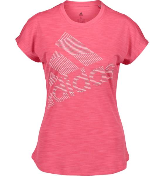 Image of Adidas So Ss Bos Logo Tee W Topit REAL PINK  - REAL PINK - Size: Extra Large