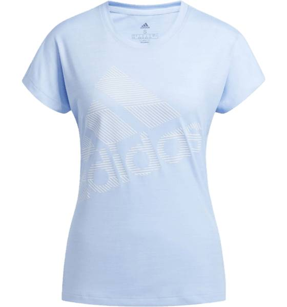 Image of Adidas So Ss Bos Logo Tee W Topit GLOW BLUE  - GLOW BLUE - Size: Small