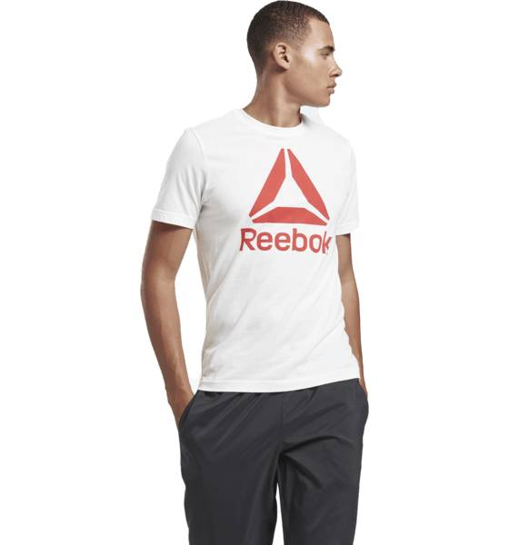 Image of Reebok So Stacked Tee M T-paidat WHITE  - WHITE - Size: Small