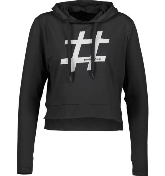 Image of #mximze So #mximze Hood W Treeni BLACK (Sizes: XS)