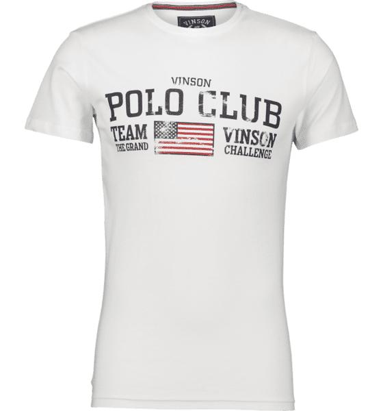 Image of Vinson Polo Club So Johnny Tee M T-paidat WHITE  - WHITE - Size: Small