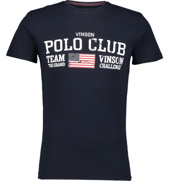 Image of Vinson Polo Club So Johnny Tee M T-paidat DARK SAPPHIRE  - DARK SAPPHIRE - Size: Large