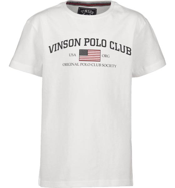 Vinson Polo Club So Henley Tee Jr T-paidat & topit WHITE  - WHITE - Size: 130