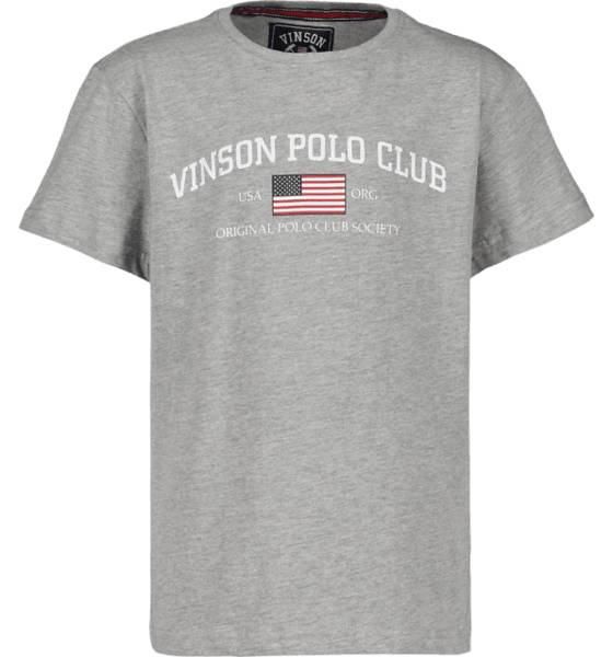 Vinson Polo Club So Henley Tee Jr T-paidat & topit GREY MELANGE  - GREY MELANGE - Size: 130