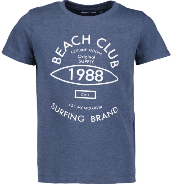 Reaction So Print Tee B Jr T-paidat & topit DK BLUE MEL BEACH  - DK BLUE MEL BEACH - Size: 86-92