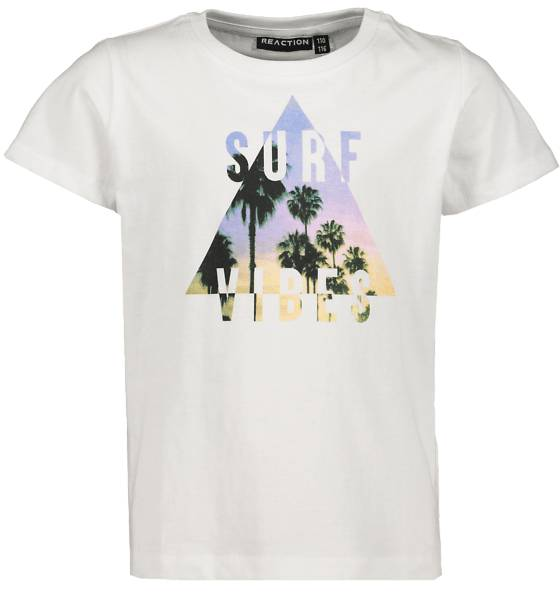 Reaction So Print Tee B Jr T-paidat & topit WHITE SURF VIBES  - WHITE SURF VIBES - Size: 86-92