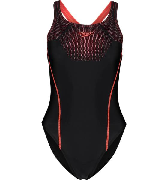 Speedo So Tech Swimsuit W Bikinit & Uimapuvut BLACK/PHOENIX RED  - BLACK/PHOENIX RED - Size: 36