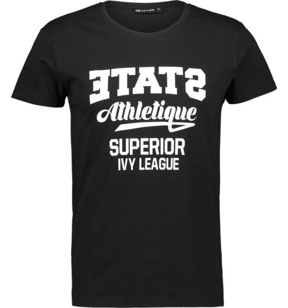 Image of Reaction So Printed Tee M T-paidat BLACK STATE  - BLACK STATE - Size: Extra Large