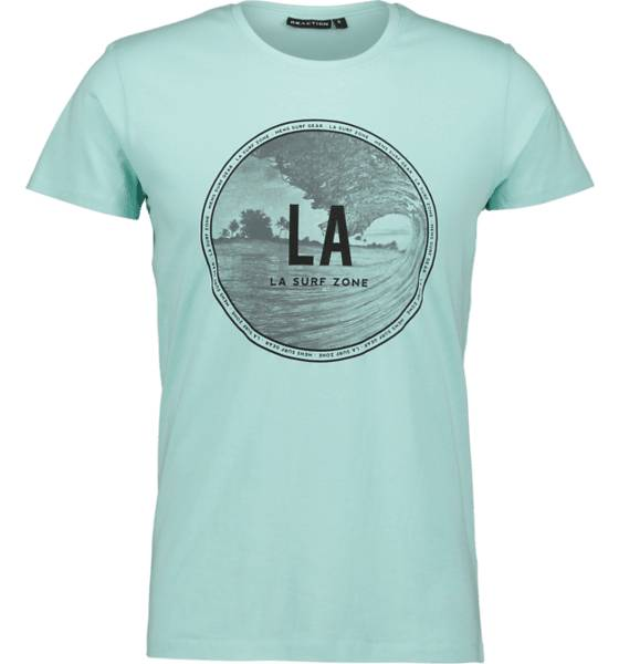 Image of Reaction So Printed Tee M T-paidat TURQUOISE LA LIFE  - TURQUOISE LA LIFE - Size: Small