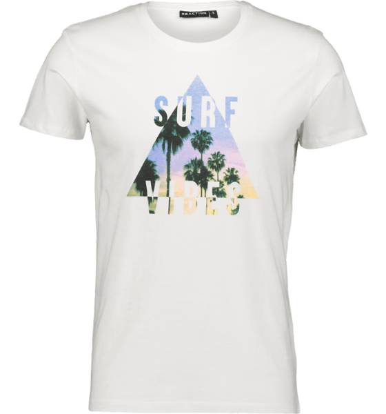 Image of Reaction So Printed Tee M T-paidat WHITE SURF VIBES  - WHITE SURF VIBES - Size: Extra Large