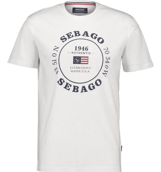 Image of Sebago So Pete Log Tee M T-paidat WHITE - WHITE - Size: Medium