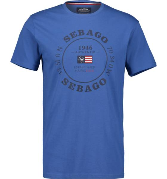 Image of Sebago So Pete Log Tee M T-paidat MID BLUE - MID BLUE - Size: Medium