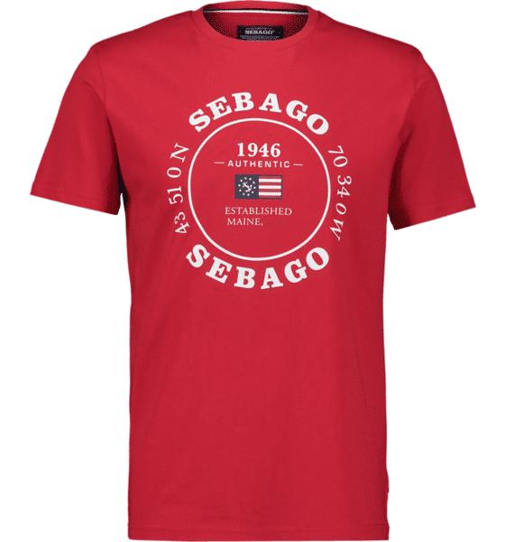 Image of Sebago So Pete Log Tee M T-paidat RED - RED - Size: Medium