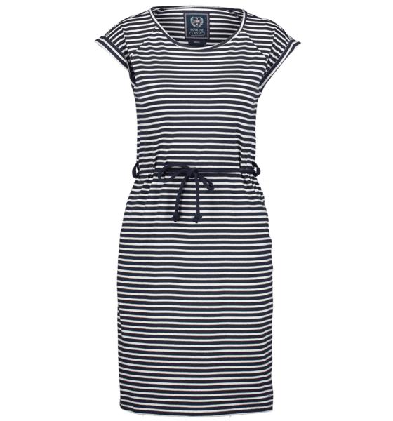 Marine Classics So Mary Jersey Dress W Mekot & hameet NAVY/WHITE  - NAVY/WHITE - Size: Small