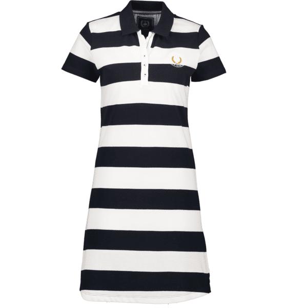 Marine Classics So Piké Dress W Mekot & hameet NAVY/WHITE  - NAVY/WHITE - Size: Small