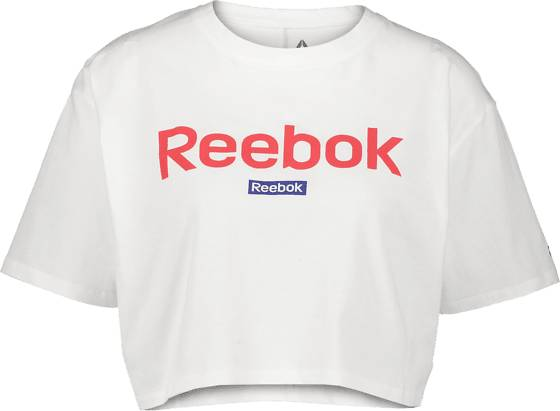 Image of Reebok So Linear Logo Crop Tee W Treeni WHITE  - WHITE - Size: Medium