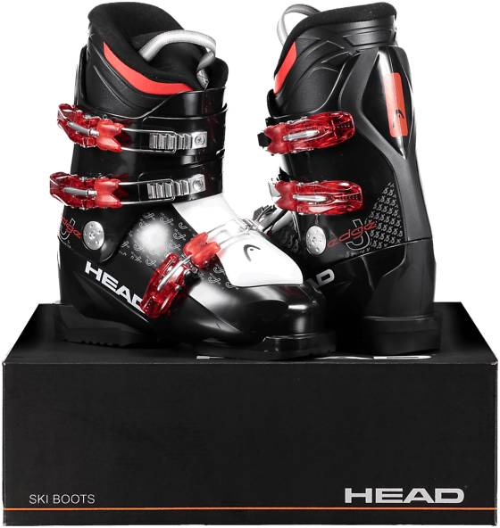 Image of Head So Edge J 3 Jr Laskettelu BLACK/RED (Sizes: 24.5)