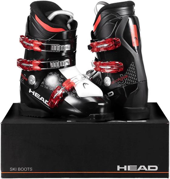 Image of Head So Edge J 3 Jr Laskettelu BLACK/RED (Sizes: 24.5)