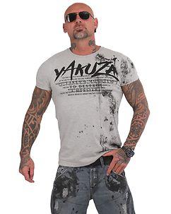 Yakuza Ink DESTROY A MONSTER T-PAITA - Harmaa