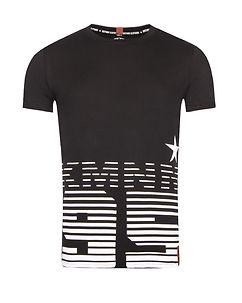 Image of Disturb Clothing KMNM T-PAITA - Musta/Valkoinen