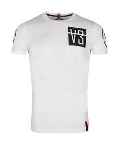 Image of Disturb Clothing V3 T-PAITA - Valkoinen/Musta