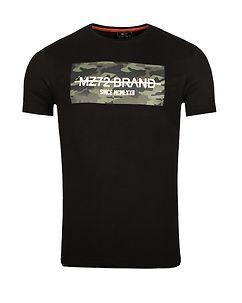 MZ72 Brand PEAK T-PAITA - Musta