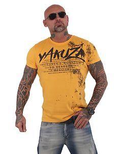 Yakuza Ink DESTROY A MONSTER T-PAITA - Keltainen