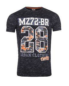 MZ72 Brand The Check T-Shirt Navy Melange