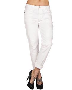 Cipo & Baxx Ladies Alecia Boyfriend Jeans White