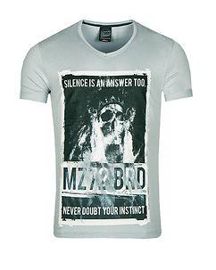 MZ72 Brand The Flame T-Shirt Light Blue