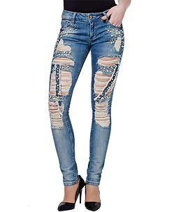 Cipo & Baxx Ladies Reiana Jeans Denim Blue