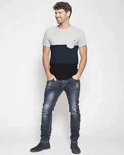 MZ72 Brand Tax T-Shirt Light Grey