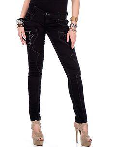 Cipo & Baxx Ladies Magic Jeans Black
