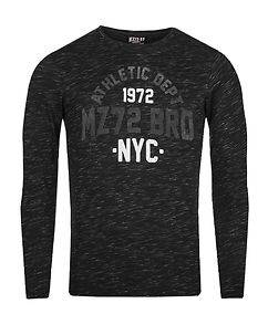 MZ72 Brand The Bright Longsleeve Black Melange