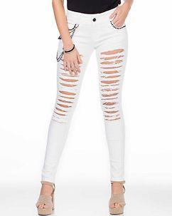 Cipo & Baxx Ladies Allegra Ripped Jeans White