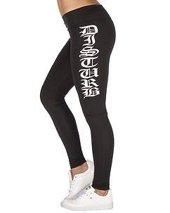 Disturb Clothing Disturb Sport Leggings Black Shine