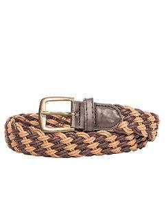Highness Braided Canvas Belt Double Brown