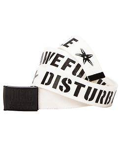 Disturb Clothing Awefuckingsome Canvas Belt White