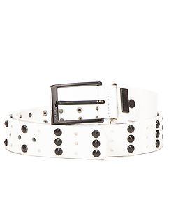 Cipo & Baxx CG122 Leather Belt White