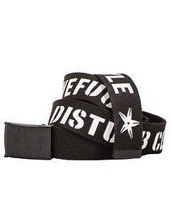 Disturb Clothing Awefuckingsome Canvas Belt Black