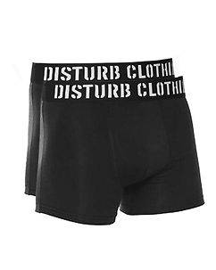 Disturb Clothing Disturb Boxer Black Double Pack